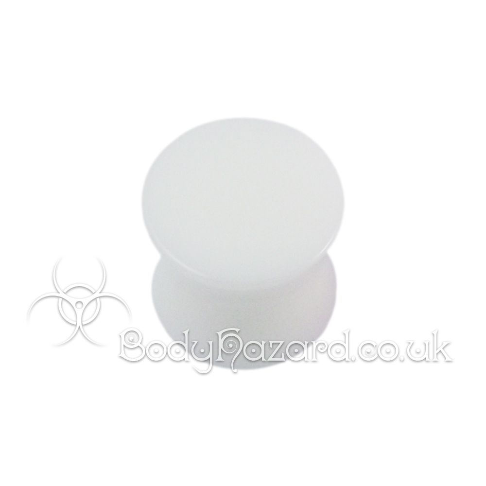 White Double Flared Acrylic Plug