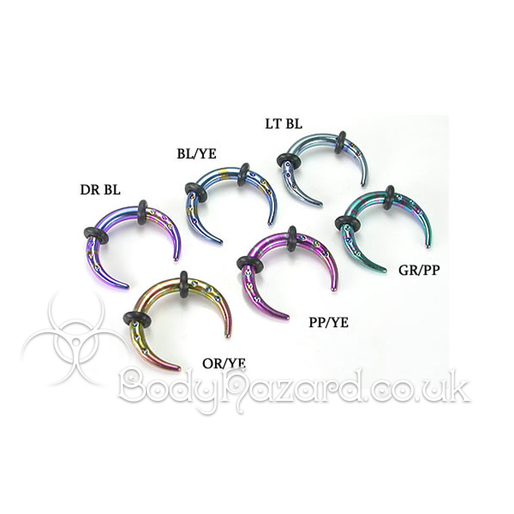 Stainless Steel Anodised Buffalo Claw Pincher 8g (3mm)