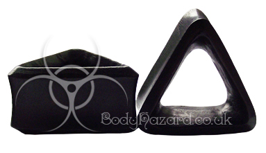 Areng Wood Triangle Double Flared Tunnels