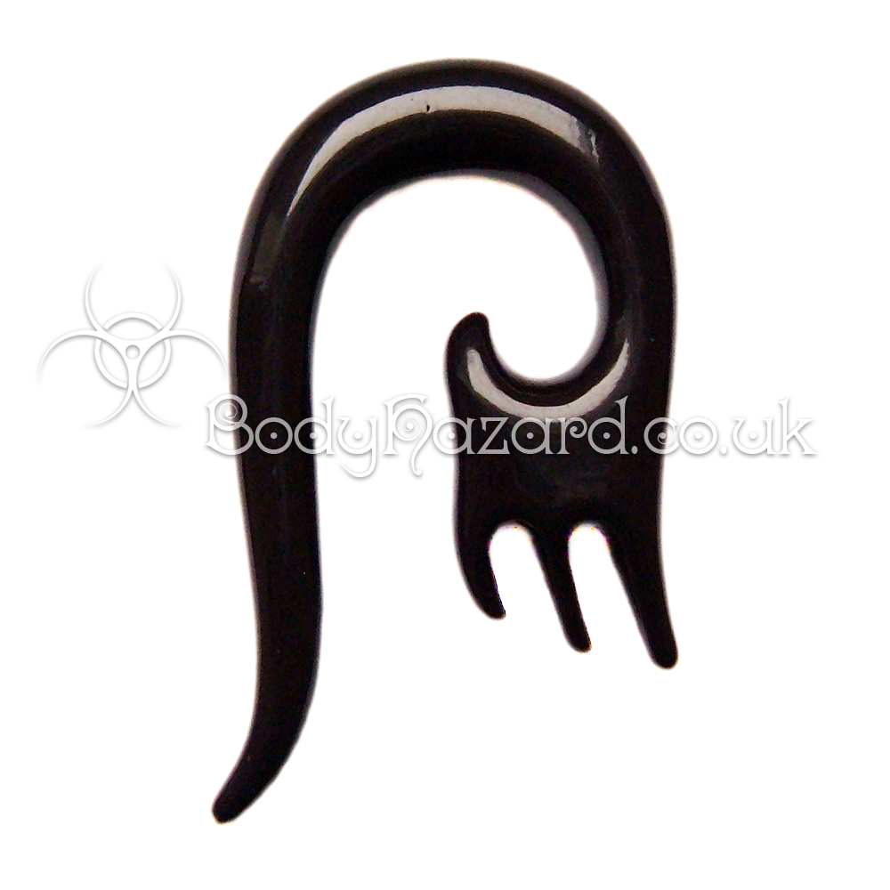 Black Acrylic Hanging Spiral Design #4