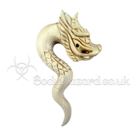 Crocodile Wood Carved Dragon Spiral