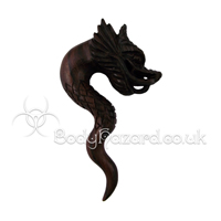 Sono Wood Carved Dragon Spiral