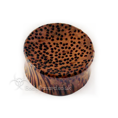 Coconut Wood Concave Double Flared Plugs