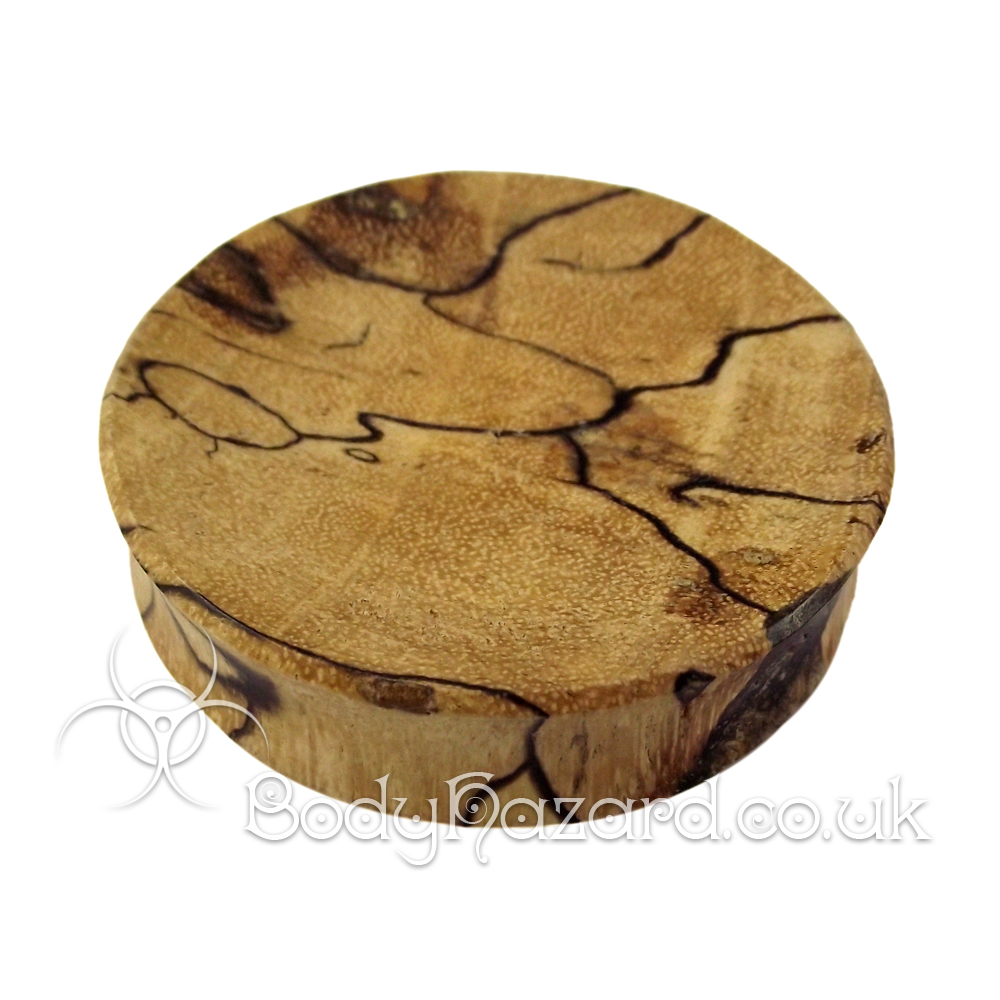 Spalted Tamarind Wood Concave Double Flared Plugs