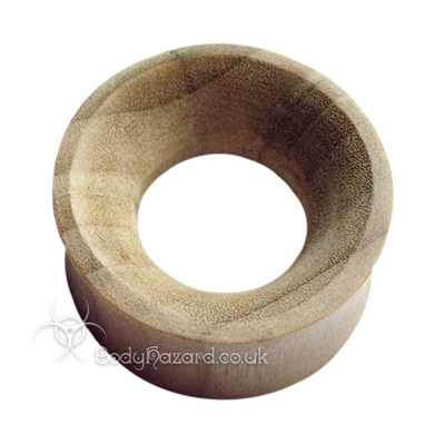 Crocodile Wood Concave Double Flared Eyelets