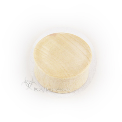 Crocodile Wood Concave Double Flared Plugs