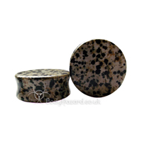 Dalmatian Jasper Stone Double Flared Ear Plug