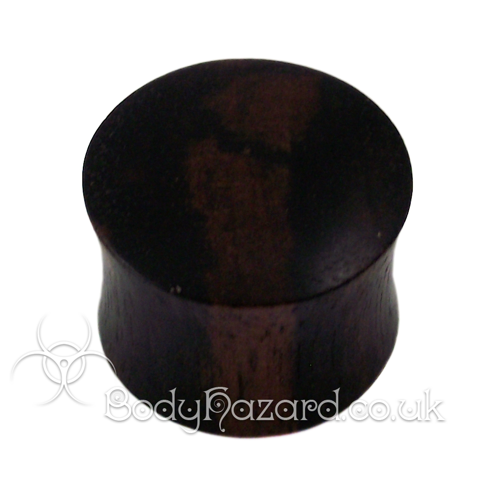 Ebony Wood Double Flared Plugs