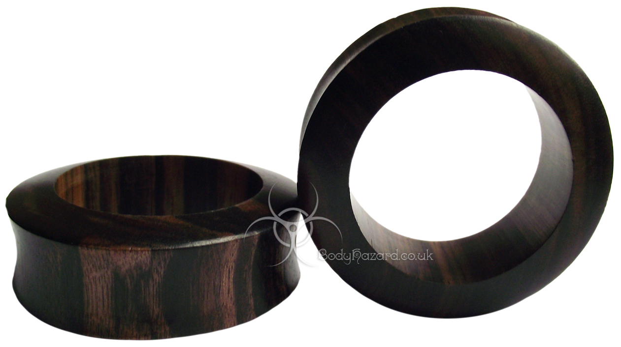 Ebony Wood Double Flared Eyelets