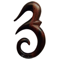 Ebony Wood Ohm Hooks