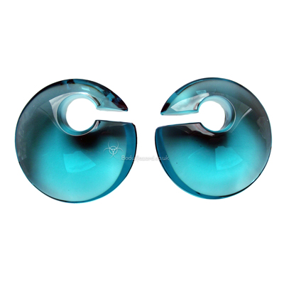 Turquoise Eclipse Glass Ear Weights Small by Gorilla Glass