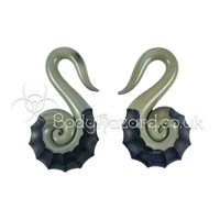 Blue Moon Nautilus Spiral Ear Weights by Gorilla Glass