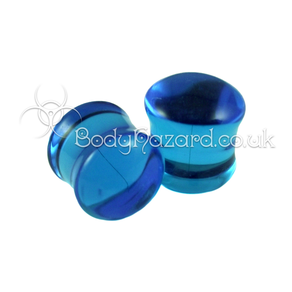 Ocean Blue Double Flared Plugs 12mm by Gorilla Glass