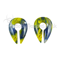 Blue & Yellow Power Keyhole Ear Weights Mini by Gorilla Glass