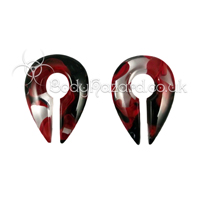 Red & Black Power Keyhole Ear Weights Mini by Gorilla Glass