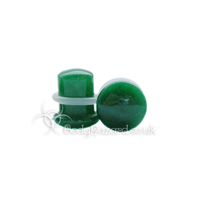 Dark Green Jade Stone Single Flared Ear Plug