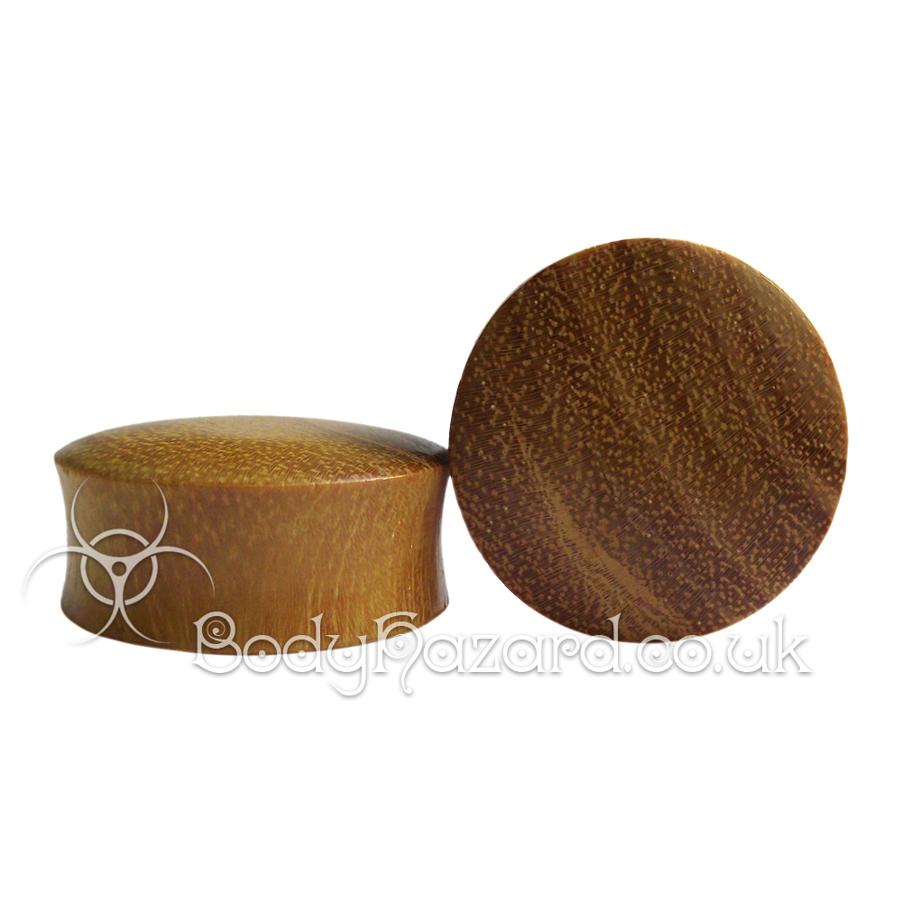 Jackfruit Wood Double Flared Saddle Plugs
