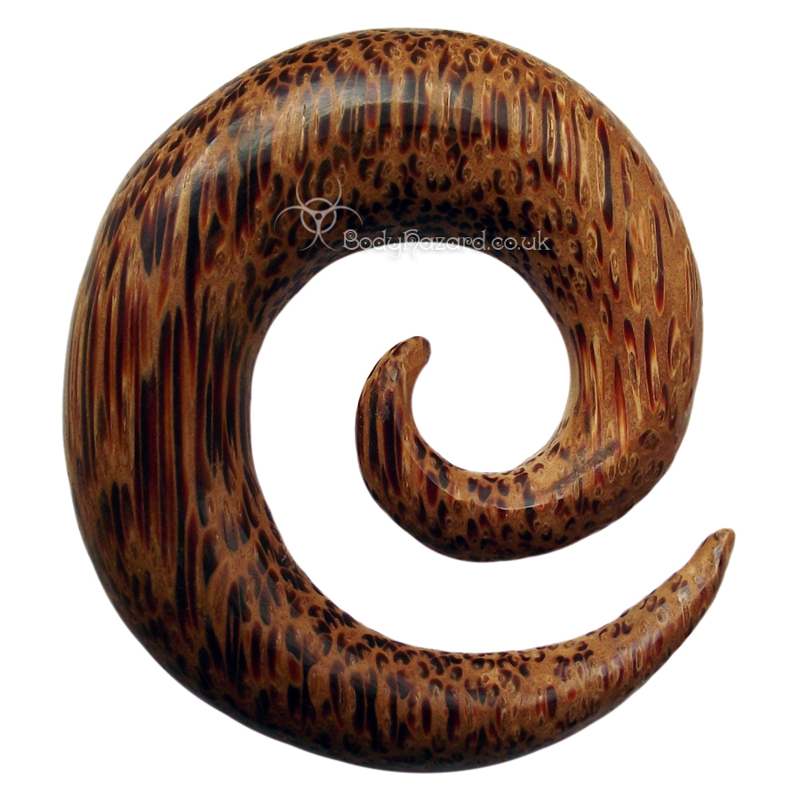 Coconut Wood Spirals - Click Image to Close