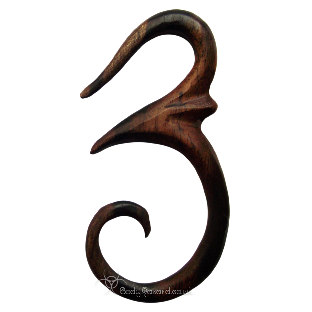 Ebony Wood Om Hooks - Click Image to Close