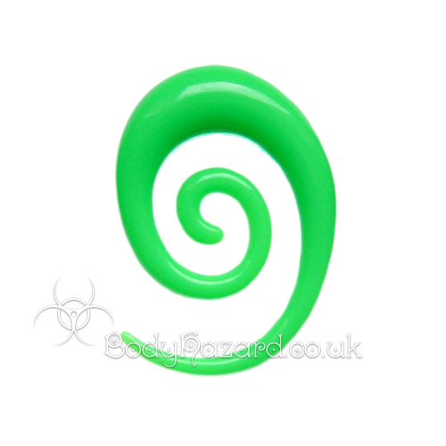 Neon Green Acrylic Elongated Spiral