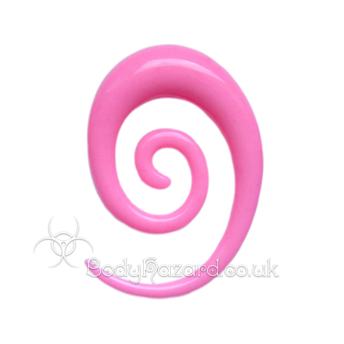 Neon Pink Acrylic Elongated Spiral
