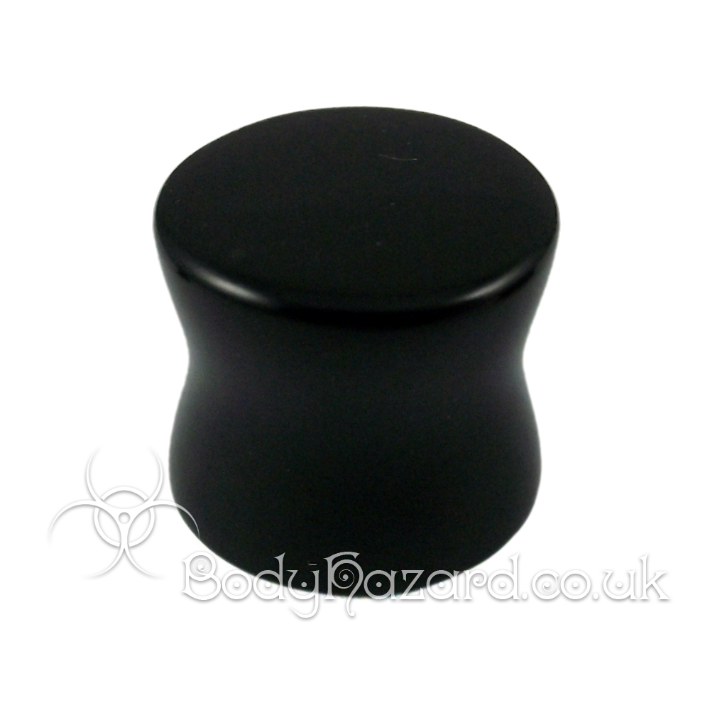 Black Onyx Stone Double Flared Ear Plug