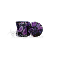Purple Crazy Paving Agate Stone Double Flared Plug