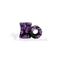 Purple Crazy Agate Stone Eyelets