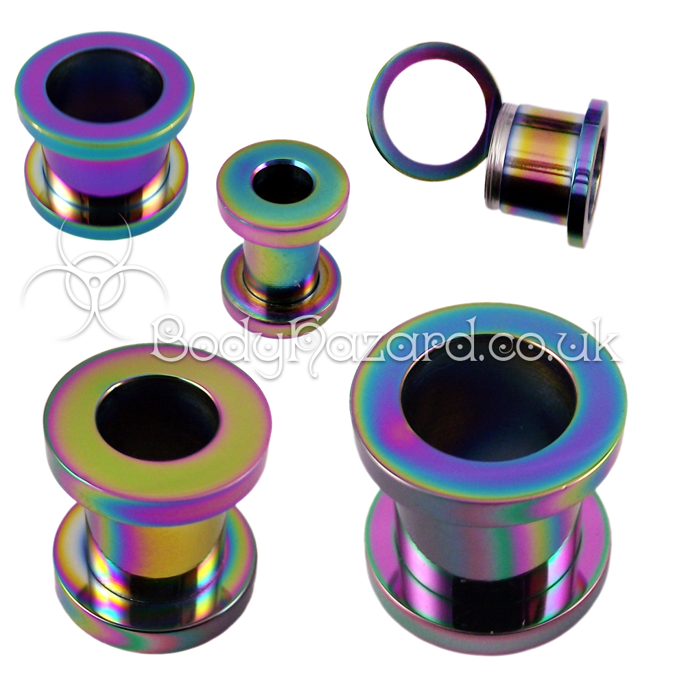 Rainbow Anodized Surgical Steel Screw Tunnel