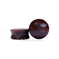Red Tigers Eye Stone Double Flared Ear Plug