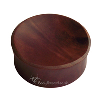 Saba Wood Concave Double Flared Plugs