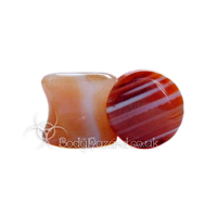 Sardonyx Stone Double Flared Ear Plug