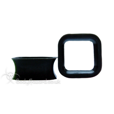 Black Square Silicone Eyelet Cube Shape Tunnel