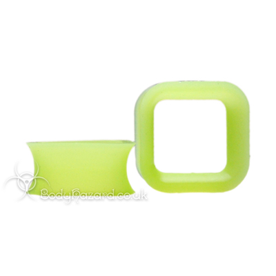 Green Square Silicone Eyelet Cube Shape Tunnel