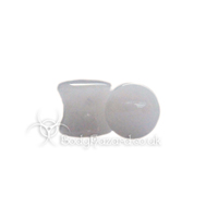 Snow White Quartz Stone Double Flared Ear Plug