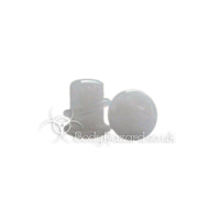 Snow White Quartz Stone Single Flared Ear Plug