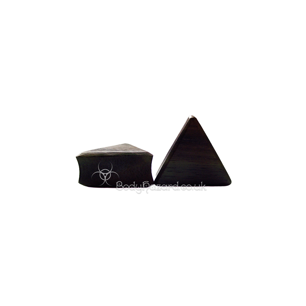 Sono Wood Triangle Double Flared Plugs