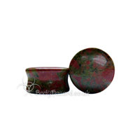 Unakite Stone Double Flared Ear Plug