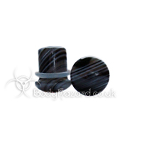 Tibetan Agate Stone Single Flared Ear Plug