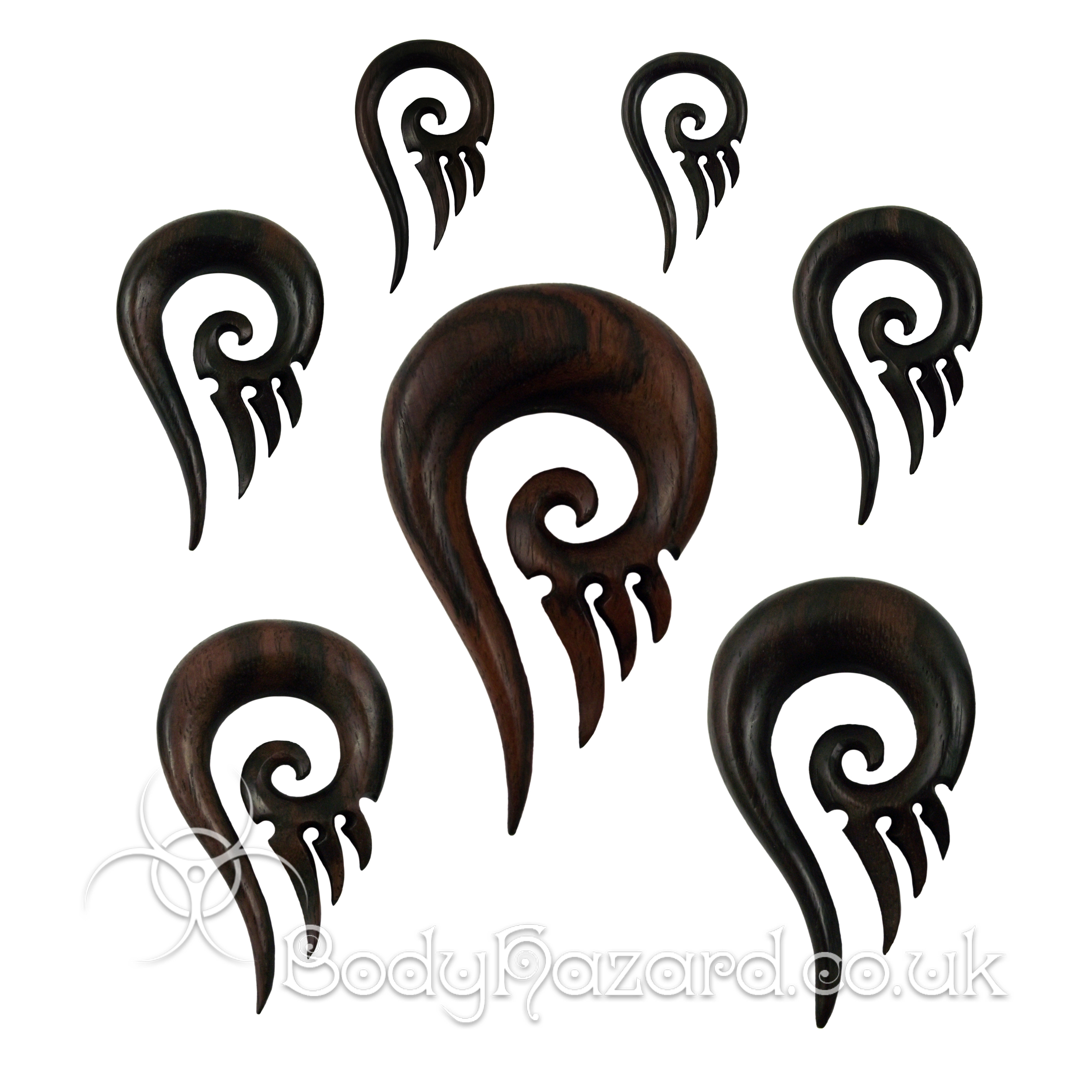 Sono Wood Tribal Spike Spirals
